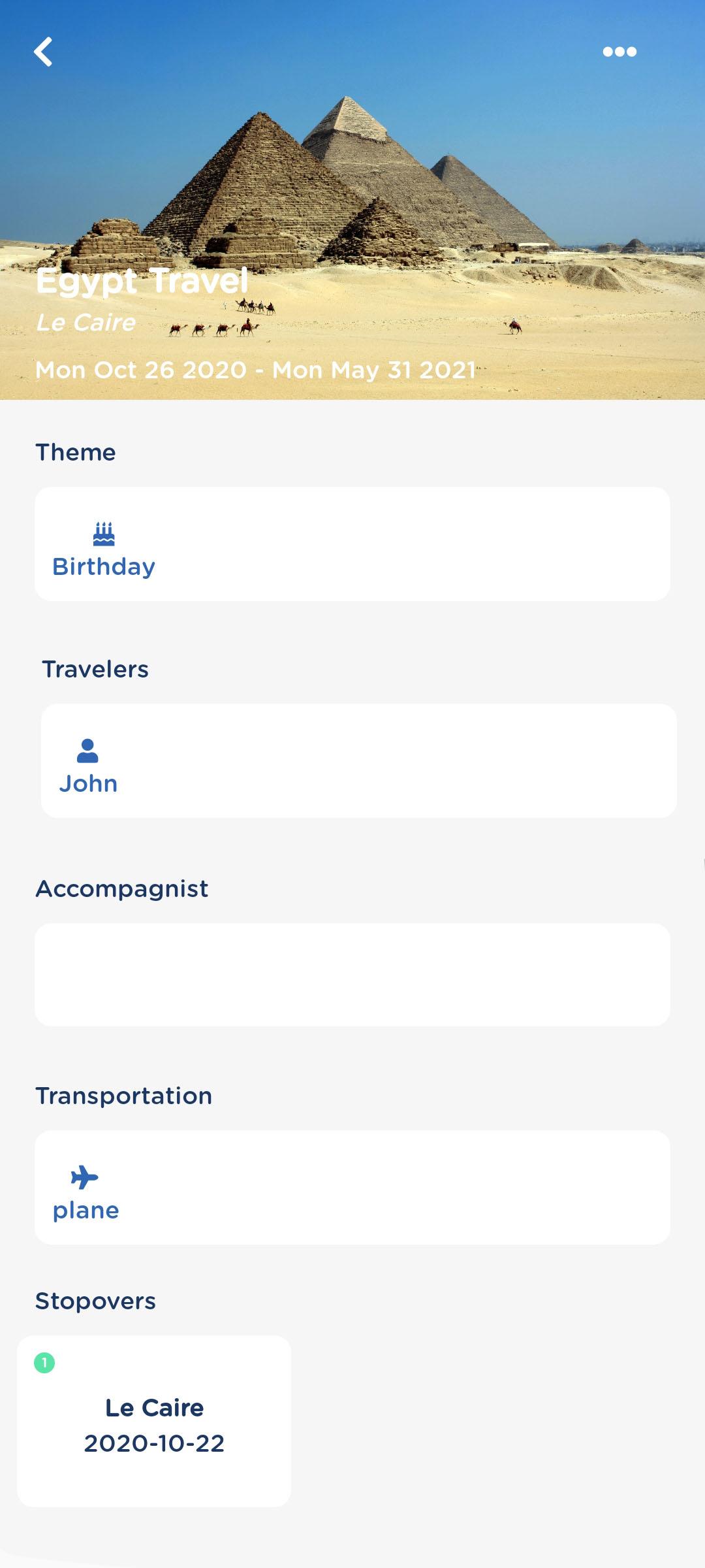 GeniusTravel.io Travel Page Preview